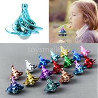 Vent coloré soufflant filature gyroscope decompression jouet gyro vent souffler tourner airflow enfants adultes cadeaux d'anniversaire