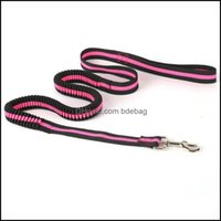 Dog Supplies Home Gardendog Collars & Leashes Leash Buffer Elasticity Short Traction Rope Reflective Pet Pl Stretch Lead For Small Medium La