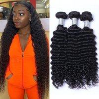 Mongolian Deep Wave Bundles Human Hair Non Remy Extensions 3 4 Pcs Curly Virgin Hairs Weave Double Drawn 100g pc