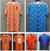 1988 # 12 van basten # 10 Gullit # 17 Rijkaard Mens 축구 유니폼 1998 네덜란드 # 8 Bergkamp 축구 셔츠 1995 1991 2010 레트로