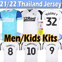 2021 2022 Derby County Soccer Jersey Rooney Jerseys Lawrence Boelik Waghorn 21/22 Hombres Kits Kits Maillot de Fútbol Camisa Thai