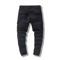 Poches Side de Hommes 2021 Black Hip Hop Casual Pantalon Mâle Mode Fashion Casual Streetwear Hommes Pants