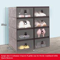 Scatole di scarpe 10pcs Set Set multicolore Pieghevole Pieghevole Plastica Clear Home Shoe Shoe Rack Stack Stack Display Box