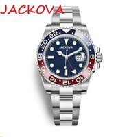 Top Brand Super Automatic Mechanical Men Yacht Watches Classic men's GMT watchs mens watch 316L stainless steel blue red ceramic sapphire glass Wristwatch
