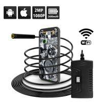 Y14 5.5MM WIFI كاميرا المنظار HD1080P 6 أضواء LED 5M سلك الصلب سلك USB التفتيش borescope مع شاشة عرض البطارية
