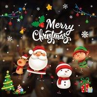 DIY Merry Christmas Wall Stickers Window Glass Stickers Christmas Decorations For Home Christmas Ornaments Xmas Year 210512