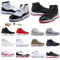 Avec boîte 11 hommes femmes chaussures de basketball nouveau Bred 2022 Jumpman 23 xii 11S Legend Blue Concord 45 Entraîneurs de SCN