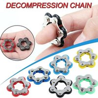 Factory Direct Sprzedaż 6 sekcji Key Ring Fidget Toy, aby złagodzić ciśnienie i odpowietrznik zabawki dekompresyjna rowerowa łańcucha7622