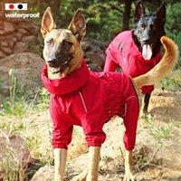 Pet Dog Coat Outdoor Jacket Pet Waterproof Winter Warm Clothes Big Jumpsuit Reflective Raincoat For Medium Large Dogs