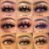 4 pçs / 2Pairs naturais cílios postiços falsos cílios longos maquiagem 3d extensão hyelash para beleza