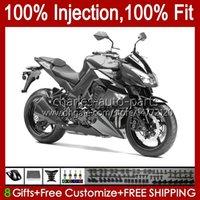 Kawasaki 닌자 Z 1000 R Z1000 2011 2012 2013 년 차체 15no.75 Z-1000 Z1000R 2010-2013 Z-1000R 10 11 12 13 OEM 페어링 키트 실버 그레이 그레이