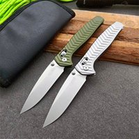 Newest Arrival 781 Pocket Folding Knife D2 Drop Point Stone Wash Blade Aviation Aluminum Handle With Zip Leather Bag