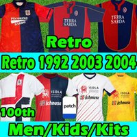 Cagliari Calcio Retro Jerseys de futebol 1990 91 92 Zola # 10 Gobbi 2003 04 05 João Pedro Godin Nandez Nainggolan 20/21 Centenary Anniversary Men Kits Kits Football Shirts