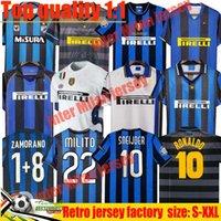 Inter Finals Soccer Jerseys 2009 2010 Milito Batistuta Sneijder Zanetti 10 11 02 03 08 09 밀라노 레트로 Pizarro1997 1998 97 98 99 Baggio Ronaldo 탑 축구 셔츠 키트