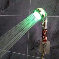 حمام التبعي مجموعة الصمام التحكم ارتفاع ضغط الأمطار دش سبا الاستشعار درجة الحرارة 7 اللون ضوء توفير المياه تصفية المعدنية دش giftoCB8 FRRJ