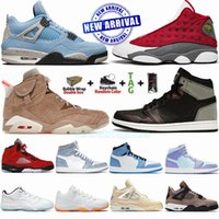 Zapatillas de baloncesto para hombre Jumpman 1 4 11 13 6 Zapatillas University Blue Travis Scotts British Khaki Rust Shadow Patina Gym Red Flint Grey Zapatillas 1s 4s 13s 6s
