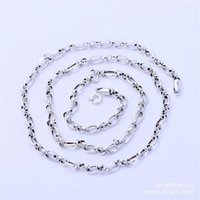 Sterling Silver Basic Chains Round Hollow Necklace Classic Jewelry Women Bone Chain Man Nacklace Snake Thai