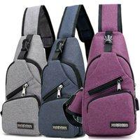 Noendema-Null Горячие Мужчины Женщины Нейлоновая Средняя сумка Рюкзак Портативный USB Зарядки Crossbody Сумка на плечо Велосипед Daily Travel Councle Pack