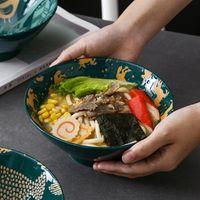 1 قطعة 7 بوصة فريد تصميم السيراميك السلطانية النمط الياباني رامين أدوات المائدة السلطانيات