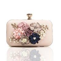 Cross-border Sale Wish Flower Bag Wedding Evening Fashion Diamond Dinner Amazon Ladies Hot Clutch Dress Fufvt