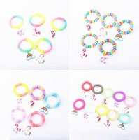 Fashion Multicolor Unicorn Plastic Hair Bands Bracelet Rainbow Color PVC Charm Wristband Home Party Jewelry Different Styles Decoration