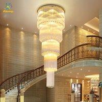 Lüks Çok Katmanlar Avize Işık 110 V 220 V Salonu Alışveriş Merkezi K9 Kristal Tavan Aydınlatma Lambası Proje Kurulum Kolye Işıkları