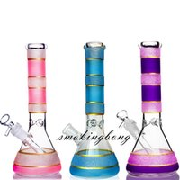 Свечение в темных бонг кальяны внизу Perc Heady DAB выгречите стекло барботер нефтяной горелки трубы водопроводные бонги стакан чича 14 мм чаша