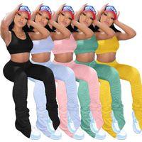 Clothesplus size S-4XL Summer Sportswear Vest Top + pleated Pants 2 pieces Set Ladies Shorts Set Designer Womens tracksuit