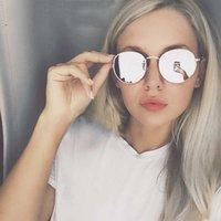 MyT Femmes Classic Vintage Ovale Sun Eyewear Tour Miroir Petit Cadre en Métal De Sol Gafas UV