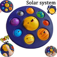 Fidget Sensory Toy Eight Planet System solare Semplice Dimple Stress Silver Baby DHL