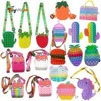 Latest Fidget Toys New Unicorn Squishy Kawaii Messenger Bag Stress Reliever Toys Sensory Special Needs Adhd Autism Kids Gift