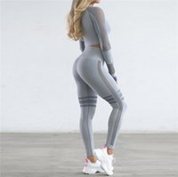 Fashion Tracksuits Femme Two Piece Set Tops Collant Collants Collants Pantalon Yoga Gym Gym Leggings Sports Sports Elastic Vêtements Fitnes