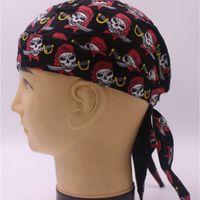 Snapbacks 아름다운 왕관 해적 모자 야외 성인 승마 headscarf 여러 가지 빛깔의 유령 시리즈 헤드 기어 모든 면화