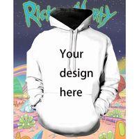 Cartoon Wzór Mężczyźni S 3D Drukowanie Rick Hoodie Visual Impact Party Top Punk Gothic Round Neck Wysokiej Jakości Amerykańska Bluza Bluza Kapturem