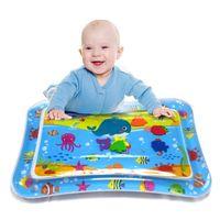 Tummy Time Minal Play Mats Baby Toys Playmats Завитающие надувные надувные подушки для повязки Летняя прохладная водяная подушка