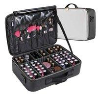 Storage Bags Women Professional Suitcase Makeup Box Make Up Cosmetic Bag Organizer Case Zipper Big Large Toiletry Wash Beauty