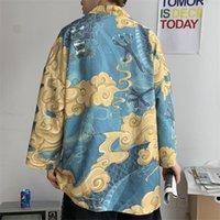 Японские кимоно кардиганские мужчины Haori Yukata Mean Samurai костюм Harajuku летний солнцезащитный крем куртка ukiyo-e Print Man рубашка пальто этнической одежды