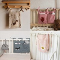 Bedding Sets Baby Crib Organizer Storage Bag Born Carton Cotton Bed Diaper Caddy Hanging Bags For Infant Set