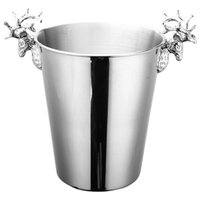 Eiskübel Edelstahl Weinkühler Kühlerflasche Champagner Bier Kaltwassermaschine SIL Tischplatte Racks