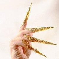 5 pezzi antichi antico stile antico queen nail anelli vuoti knuckle anello anello punta pancia danza di danza di moda gioielli accessori