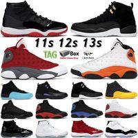 11 11s 25 aniversario Concord 45 Space Jam Mess Baloncesto Zapatos 12 12S Indigo Gamma Azul Inverso Taxi 13 13s Chicago Black Hyper Royal Hombres Mujeres Sneakers