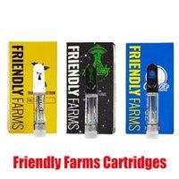 Premium Дружественные фермы Картриджи аторизаторы 0,8 1.0 мл Пустое керамическое стекло толщиной масляных тележек