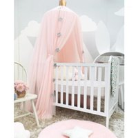 Crib Netting Baby Mosquito Decor Net Canopy Cot Bed Curtain Valance Hung Dome Girls Nursery Room Princess Kids Play Tents1
