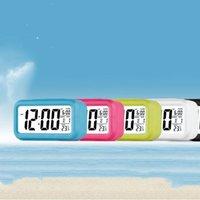 Tischuhr Smart Sensor Nightlight Digital Wecker mit Temperatur Thermometer Silent Desk Bedside Weck Up Snooze Home Dekor T2I51742