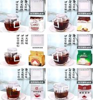 Drinkware Kitchen, Dining Bar & Garden50Pcs Lot Drip Filter Bag Portable Hanging Ear Style Filters Paper Home Office Travel Brew Coffee And