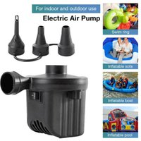 EU US PLUG Electric Air Pump With 3 Nozzles Portable Inflator For Mattress Pool Floats Blow Up Raft Bed Boat Toy & Accessories