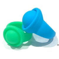 Candy Colors Empuje el anillo de silicona para niños Fashion Boys Grils Anillos Makaron Bubble Fidget Toys Toys Ring Gifts Supplies HWA930