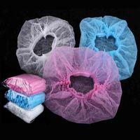 100Pcs Non-Woven Way Shower Cap Fluid Dust cap For Ladies and Men For Spa Salon Beauty Hair Hygiene Accessories J0513