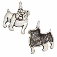 Dogs Charms Bracelets Necklace DIY Pendants Crafts Hand made Earring Clothes Vintage Silver Plated Bulldog Metal Alloy Suppliers Jewelry Fittings 17*13*3mm 200pcs