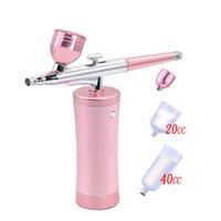 0.3mm Mini Air Compressor Kit Air Brush Paint Spray Gun Airbrush For Nail Art Tattoo Craft Cake Nano Fog Mist Sprayer